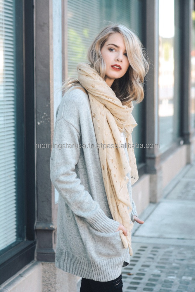 Tattered Draped Scarf YS-3490 Winter