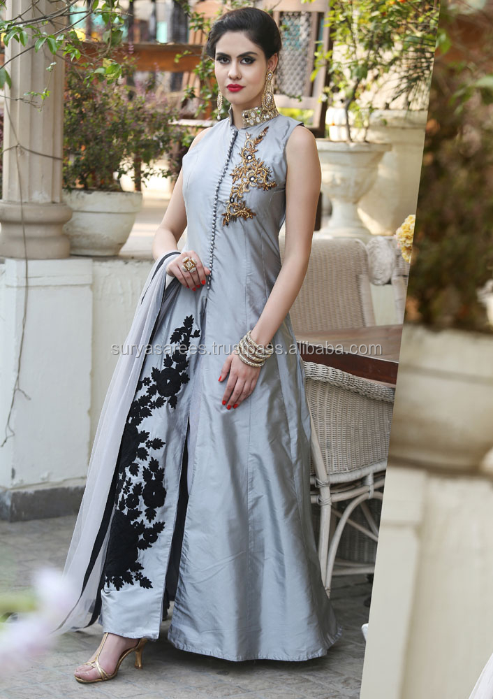 Gray colour Indo-western dresses