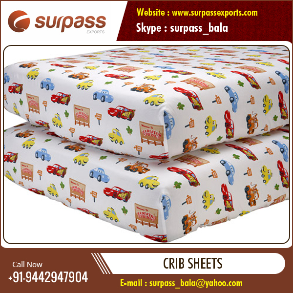 New Stock of Organic Cotton Woven Baby Sheets at Factory Price