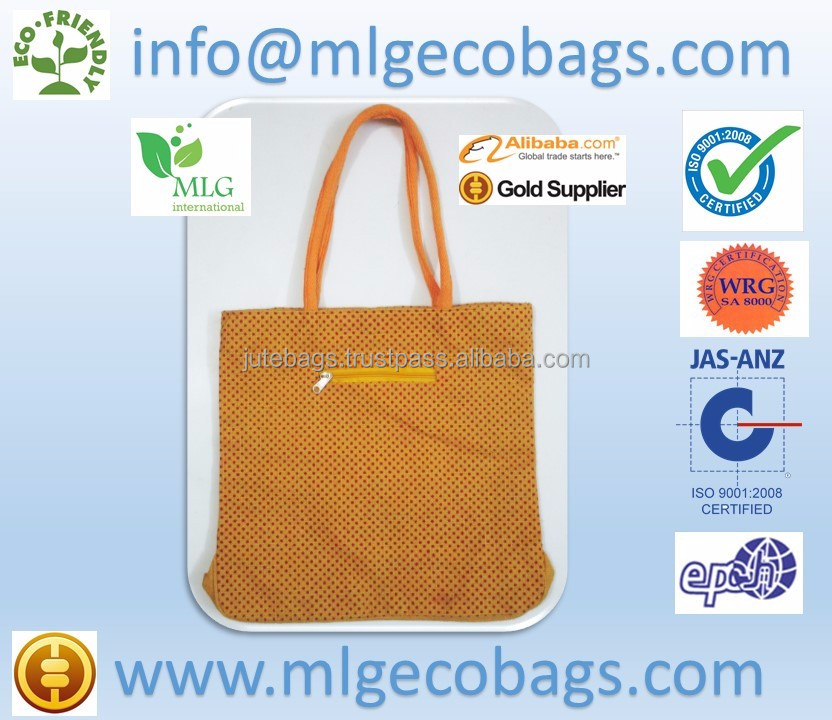 2011 Wholesale cheap printed laminated natural jute shopping bag,tote jute bag Jute Bags Promotional by MLG Kolkata