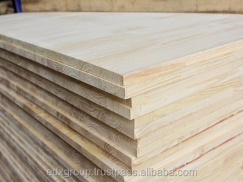 Rubber Wood Finger Joint Board Size 1220*2440mm Or As Requested Used For  Construction And
