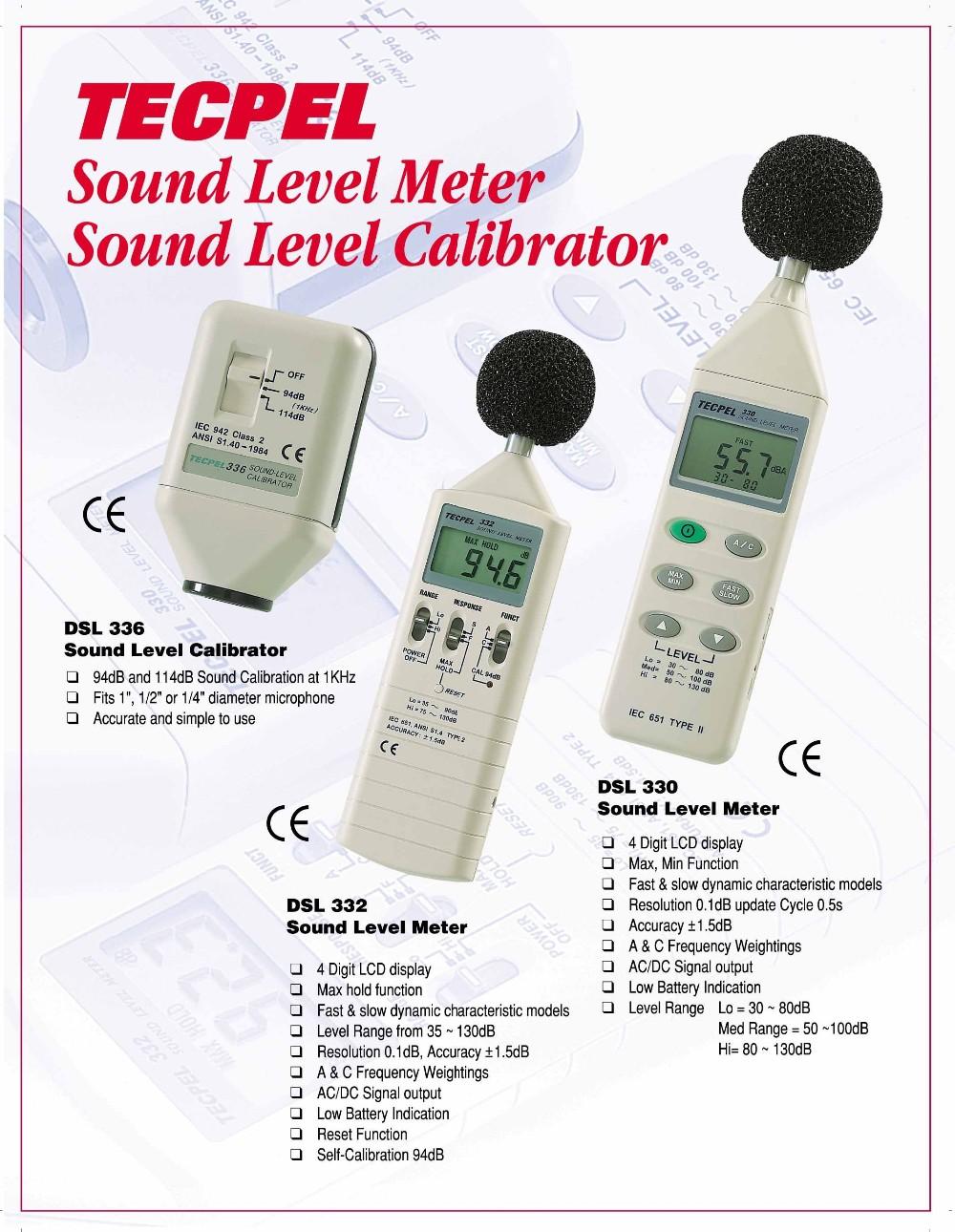 Dsl-330 Digital Sound Level Meter Calibrator Led Monitor