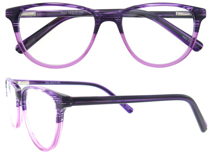 6d9567abf6a4 FASHION ITALY DESIGN WOMEN OPTICAL FRAME ACETATE WITH SPRING HINGE OPTIC  EYEWEAR