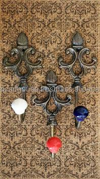 Fleur De Lis Cast Iron Coat Hook Hanger In Many Colors Hooks Antique Wall Decorative Animal Product On