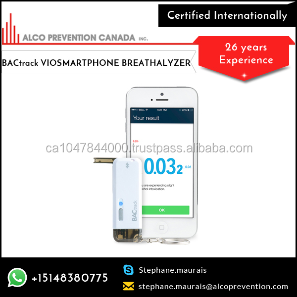 Advance Technology Ultra Portable Backtrack Vio Smartphone Breathalyzer