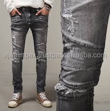 e90de1a9 Acid Wash Jeans Pant-light-blue-casual-men-jeans-knee-hole ...
