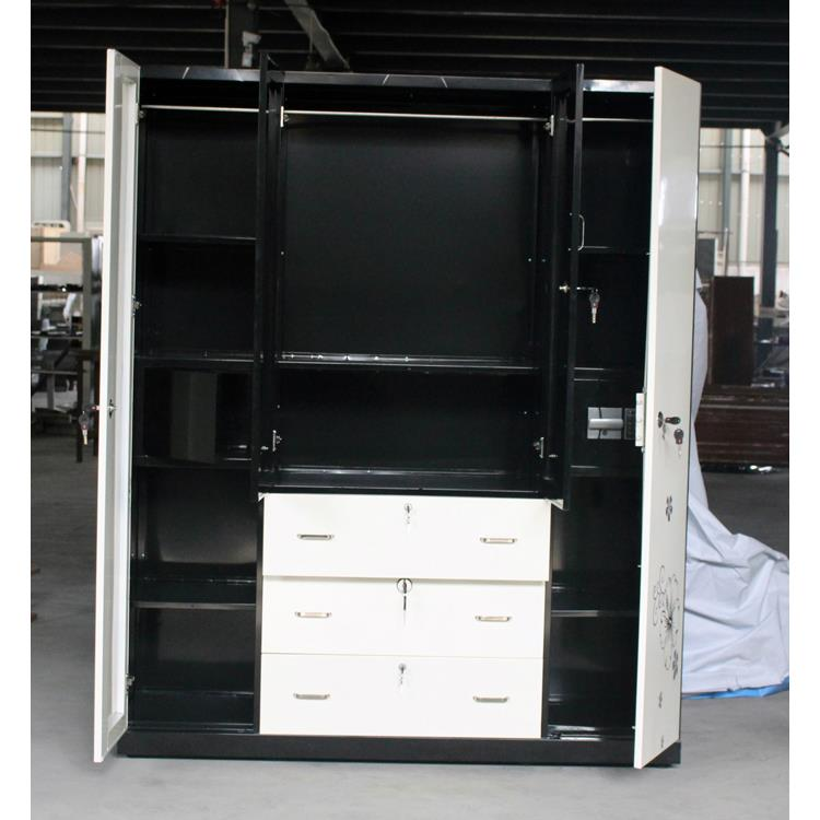 wholesale new kd design clothes hanging chest office furniture half height metal credenza 2 door vintage