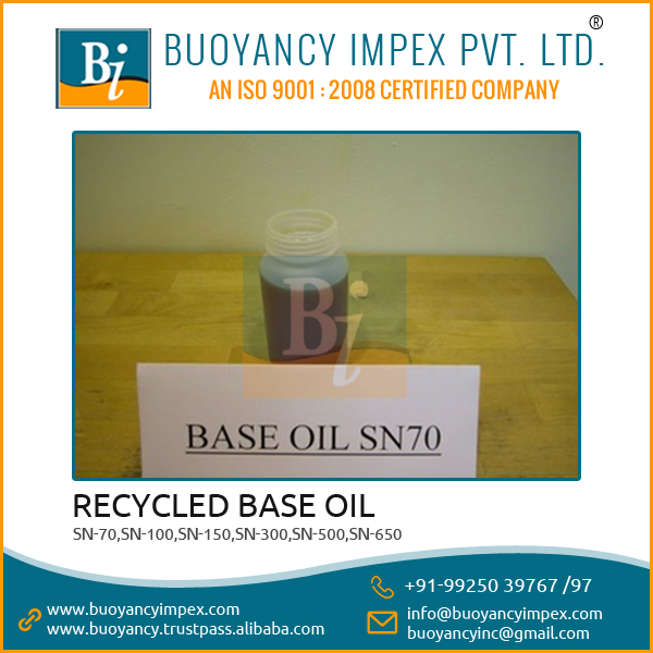 High Viscosity Widely Used SN 70 Recycled Base Oil from Reputed Exporter