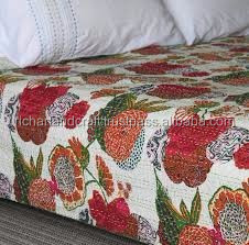 Handmade Indian quilts for sale Kantha work