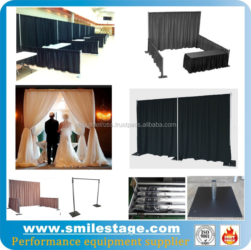Portable exhibition booth stand backdrop display system