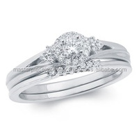 0.25 Carat Diamond Semi Mounting Rings Bridal Set in 10K White G Jewelry Rings Marquise Cut Loose Diamonds