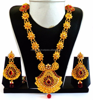 gold plated necklace sets images One gram gold plated necklace set wholesale wedding wear jewelry jpg  sc 1 st  Darim24 & gold plated necklace sets images