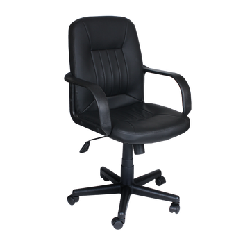 Middle Back Ergonomic Desk Computer Office PU Swivel Working Chair With PP  Base Carmen 6075 PU
