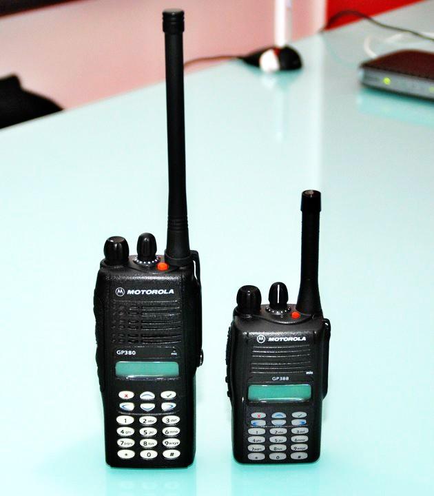 Motorola 255 Channels Uhf Walkie Talkie Gp388 Portable Radio