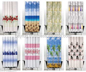 Made In Turkey Water Proof Polyester Shower Curtain