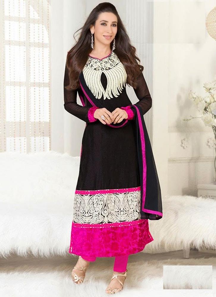 fd2bb5227f Yupy-115 Karishma Black And Pink Salwar Suit - Buy Formal Salwar ...