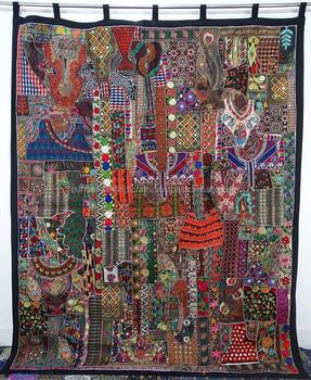 Bohemian Tribal Patchwork Wall Decor Art Curtains