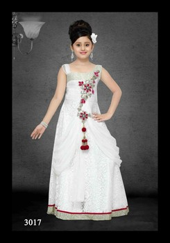 Party Wear White Frockgown Designs For Girls Buy Kids Frocks Neck