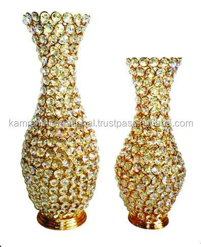 Gold Plated Flower Vase Beads For Home Decoration Buy Decoration