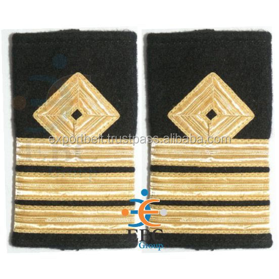 Deck Officer Epaulettes 1 2 3 4 Bar Curl On Top Royal