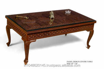 carved solid wood coffeecenter table - Carved Wooden Coffee Tables