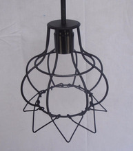 Unique Design Metal Material Wire Hanging Pendant lamp shade.