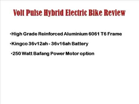 Volt Pulse Hybrid Electric Bike Review - Cheap Electric Bikes - Volt Pulse Electric Bike
