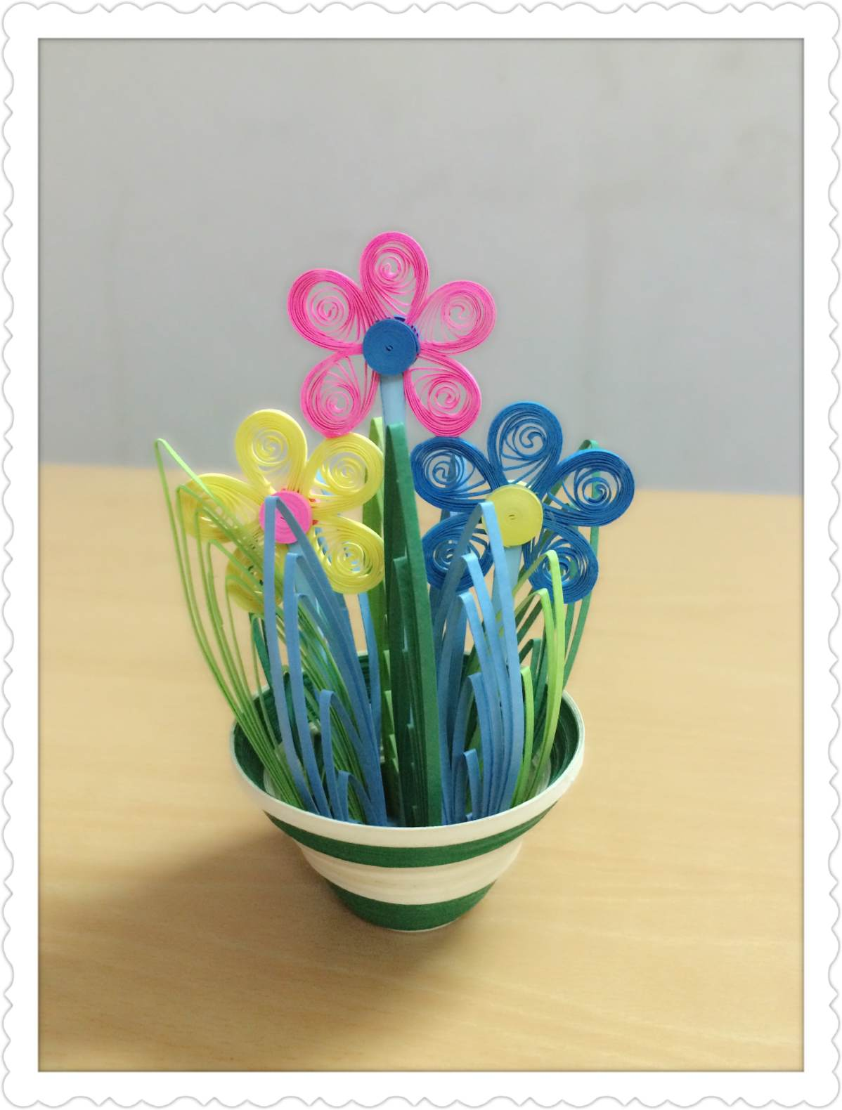 Quilling Flowers Paper