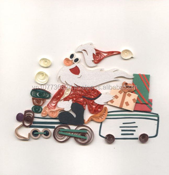 Noel quilling paper card