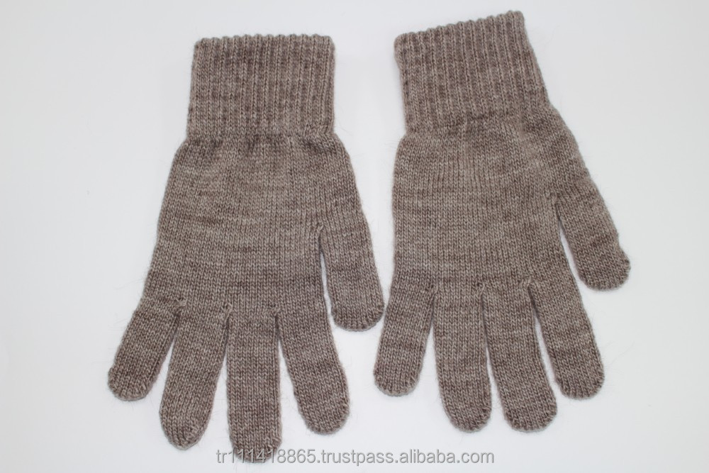 100 % acrylic knitted gloves
