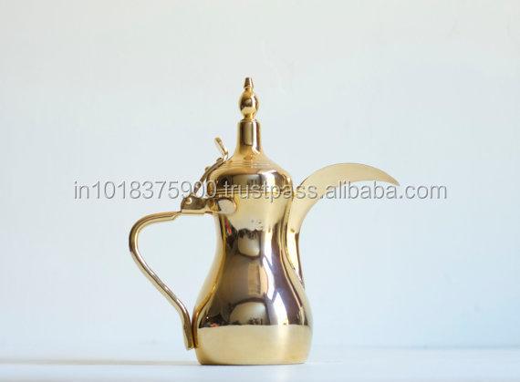 Real Gold Dallah,Arabic Dallah Metal Silver Plated Pitcher Water ...