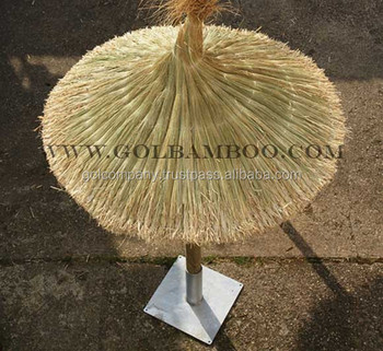 [wholesale] Reed Roof Umbrella   Reed Thatch Roofing   Thatched Umbrella    Natural Straw