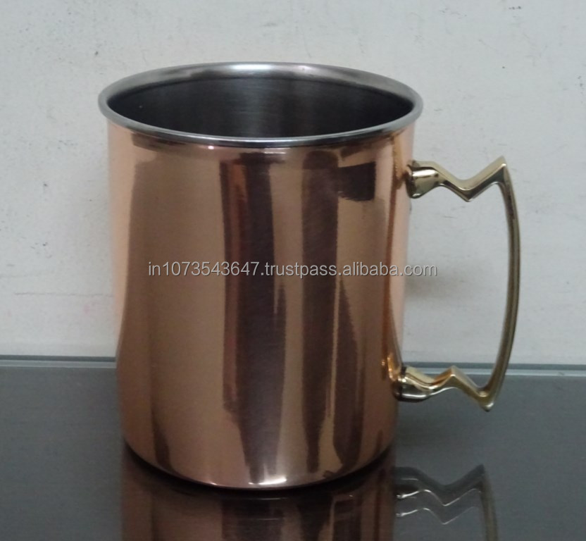 Stainless Steel Plain Beer Mug Copper Plated