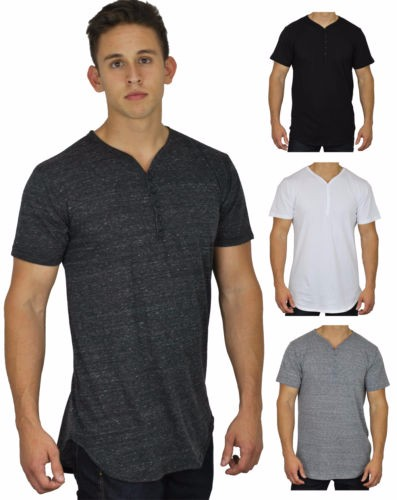 Longline Round Bottom 3 Base Layer Side Zipper T Shirt,Elongated T ...