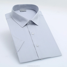 solid color high quality short sleeve fashionable mens dress shirts