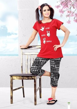 44c3915b99d Hosiery Stiched Night Wear Night Suit Night Gown For Women And Girls ...