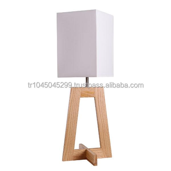 Lámpara de mesa de madera angulares, hechos a mano, diseño ...