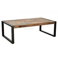 RECLAIMED WOOD TEAK TREND COFFEE TABLE