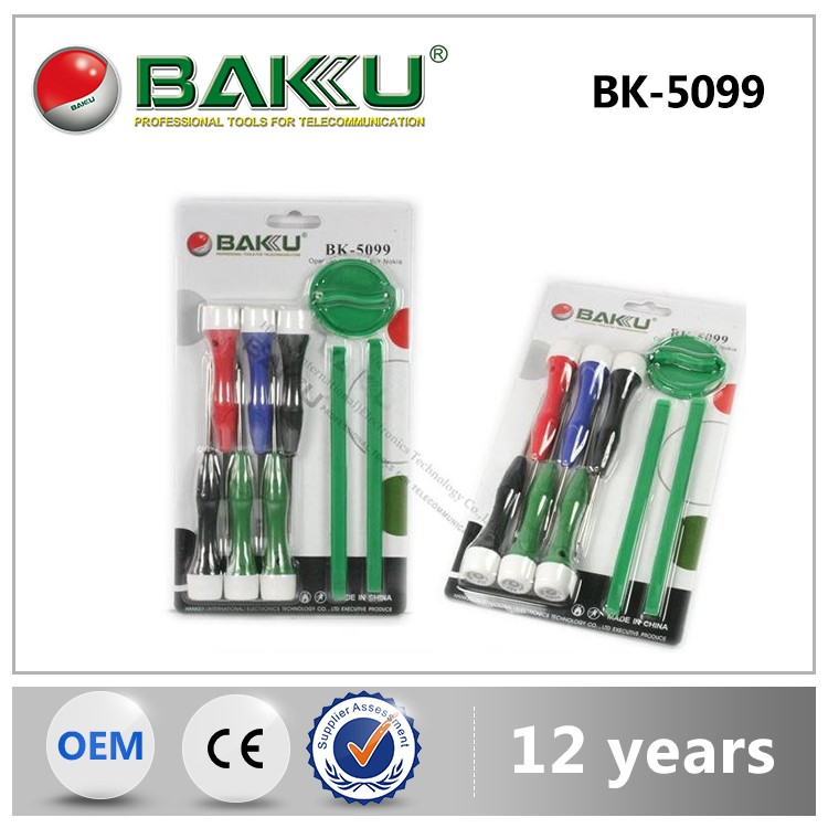 BK-5099 Hot Selling screwdriver set with opening tools 9 in 1screwdriver with magnetic screwdriver bit set