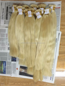 "16"" to 30"" 100g/pcs wholesale hair extension 100% natural color Brazilian human hair ponytail straight wavy and bulk hair"