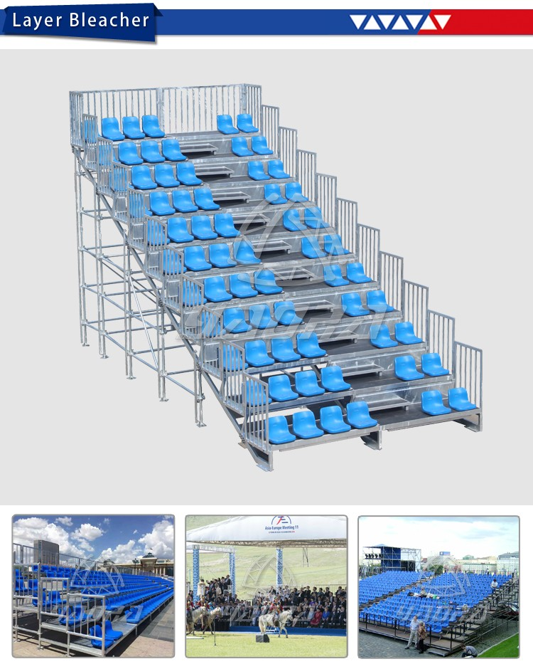 Indoor Outdoor Used Stadium Seats for Open and Close with Passway