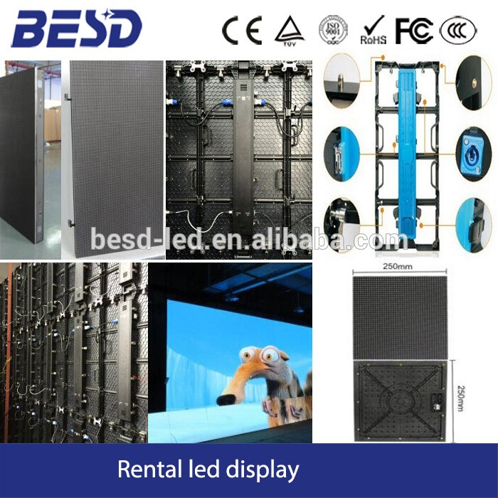 Die casting aluminum indoor /Outdoor rental led display screen p3,p4,p5,p6 smd led video wall panel for indoor use