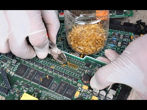 Gold from scrap components electronics