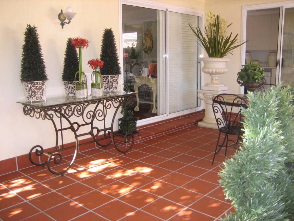 Non Slip Outdoor Decoration Terracotta Ceramic Floor Tile 300x300