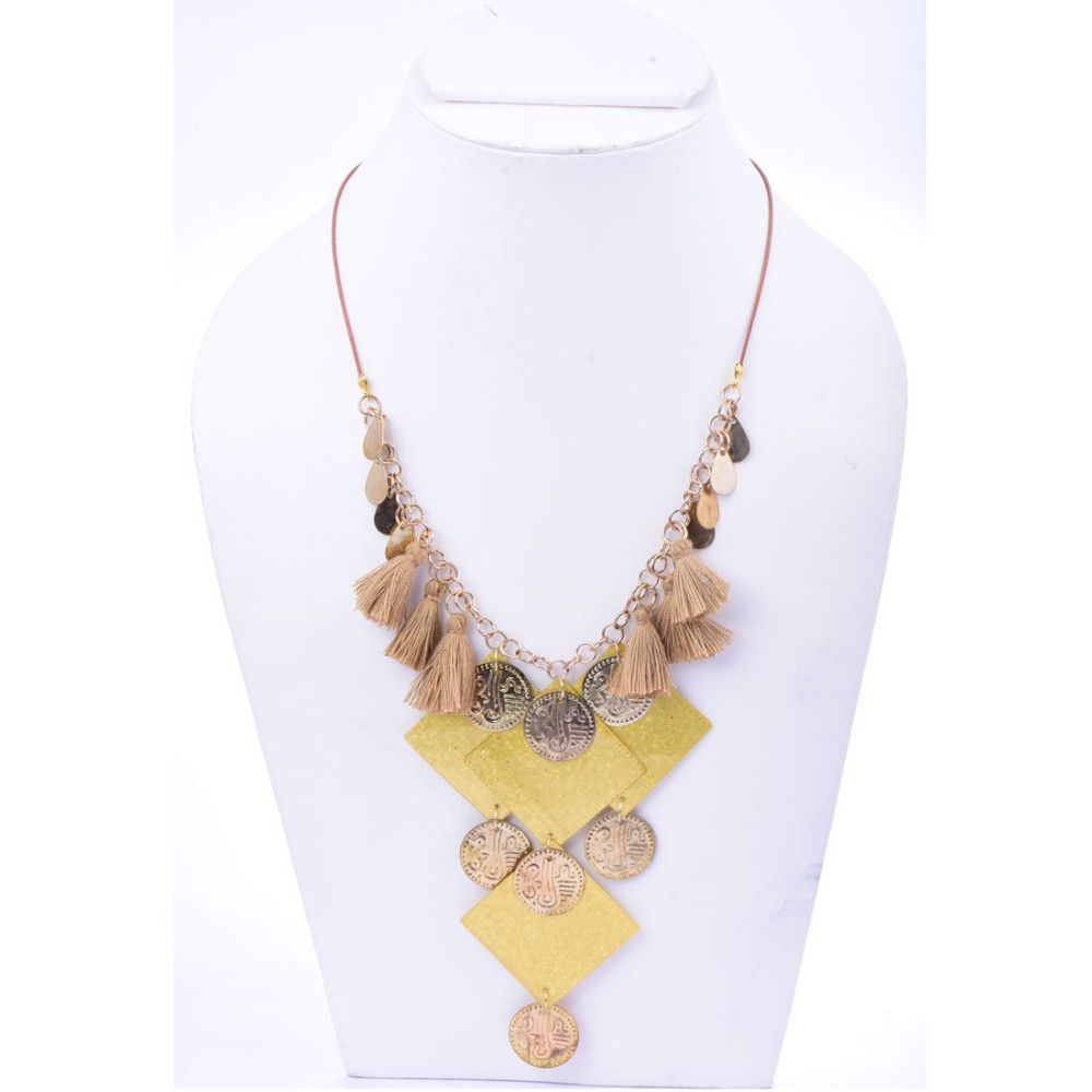 Beads India Misted Yellow 1404549 Necklace/ Discount breaker above 120 Pcs