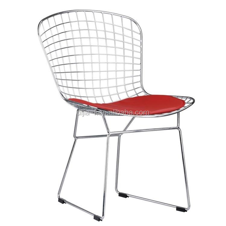 Mid Century Vintage Replica Knoll Harry Bertoia Metal Wire Side Chair
