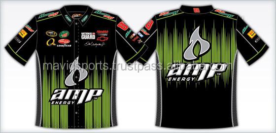 Custom sublimated pit crew shirts buy pit crew shirt for Custom race shirts no minimum