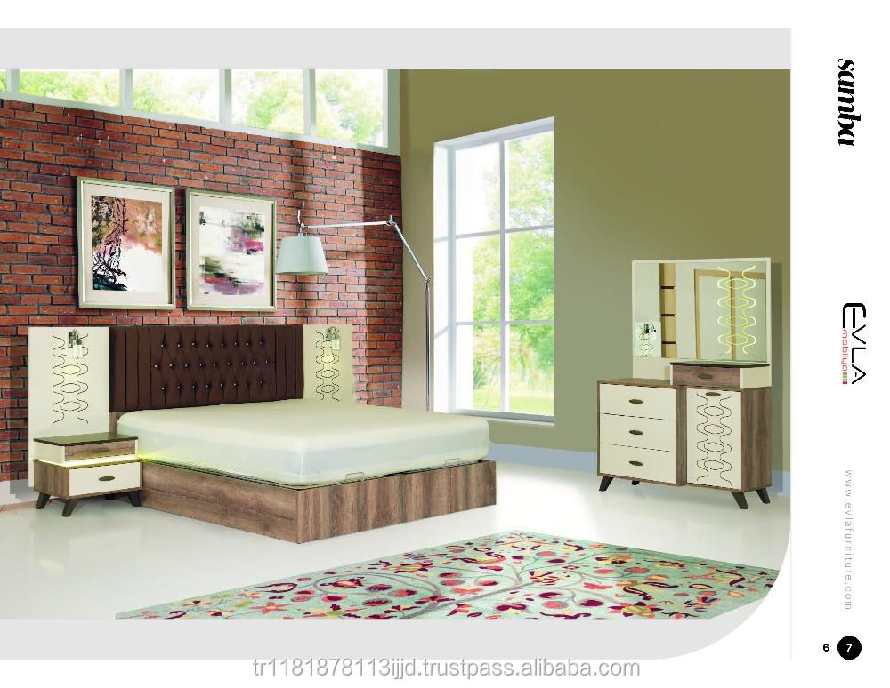 سامبا طاقم غرفة نوم أثاث تركي2019 تصميم مجموعات غرف النوم معرف