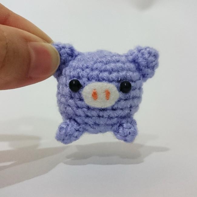 Tiny Kreis Chubby Häkeln Schweinamigurumi Häkeln Tiere Baby