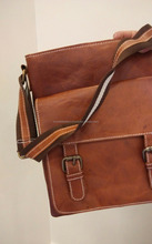 Vintage Leather cross body Messenger bag